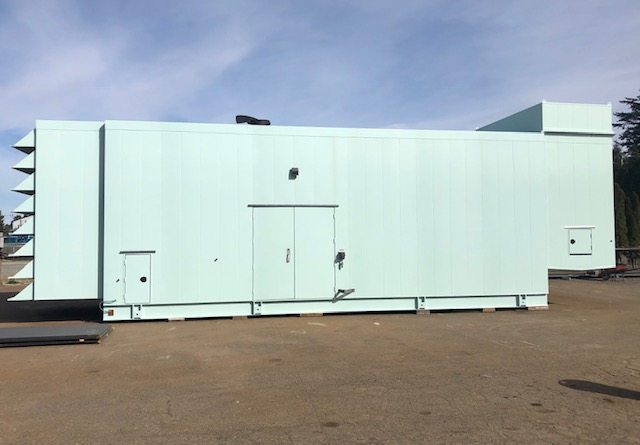 Generator Enclosure by Pacific Enclosures full side view